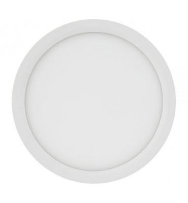 Painel LED sobrepor redondo 18W 3000K 22,5cm - Brilia