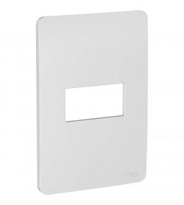 Placa 4x2 1 posto Gamma Silver Orion