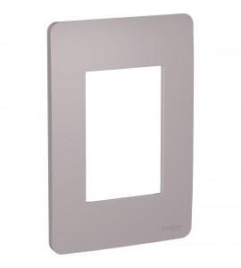 Placa 4x2 3 postos Axis Grey Orion
