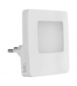 Luz noturna LED quadrado 0,5W 3000K