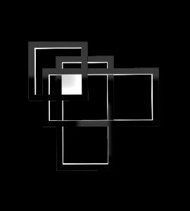 Plafon/Arandela Quadrado Frame