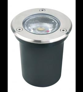 Embutido de solo Dresden LED 3W 3000K IP67 redondo aço inox