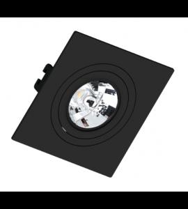 Embutido AR70 quadrado recuado preto