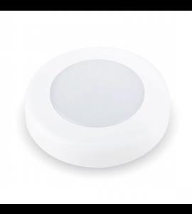 Luminária de sobrepor para móvel redondo 2W 3000K 7cm Initial