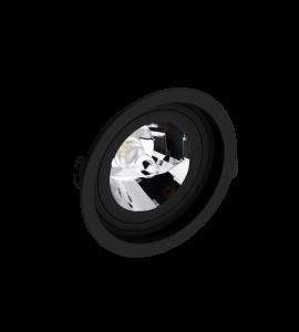 Embutido AR111 redondo recuado preto