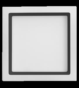 Painel LED embutir quadrado com recuo preto 20W 4000K 22,5cm Save Energy