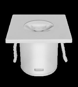 Mini Embutido quadrado branco 1W 2700K