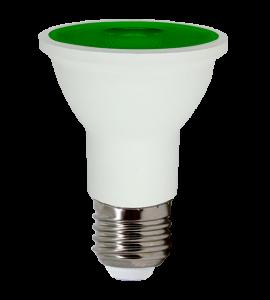 Lâmpada PAR20 LED Verde 6W
