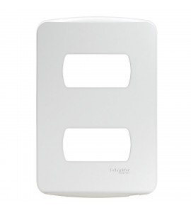 Placa 4x2 2 postos c/ suporte branca Miluz
