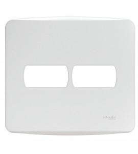 Placa 4x4 2 módulos branco Miluz