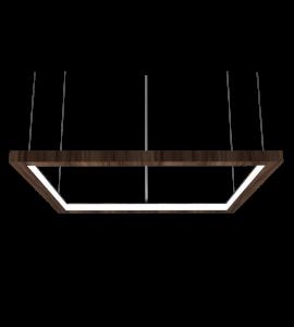 Pendente Quadrado Horizontal LED 40W 2700K