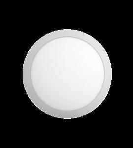 Painel LED embutir redondo 18W 3000K 21cm - Opus