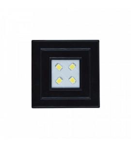 Luminária Pop 0,9W 3000K quadrada PT