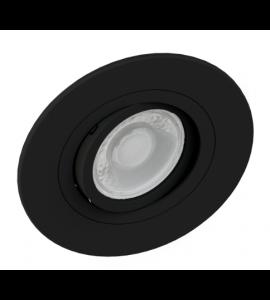Embutido dicróica redondo plano preto