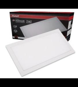 Painel LED embutir retangular 25W 4000K 31,2x62,5 - Avant