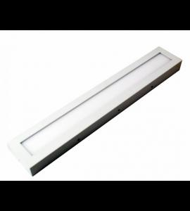 Painel LED sobrepor retangular 18W 3000K 10x60 Bella