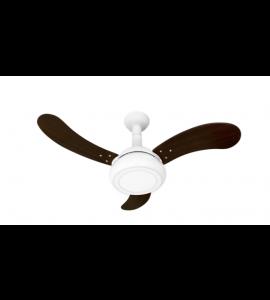 Ventilador One LED branco/tabaco
