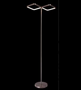 Luminária de coluna LED 24W cromado cor da luz variável