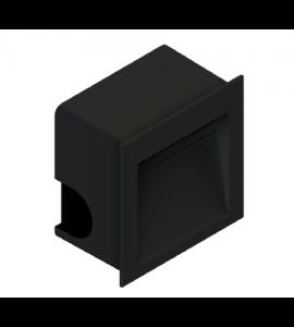 Balizador embutir LED 1,5W 3000K preto