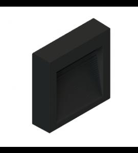 Balizador sobrepor LED 1,5W 3000K preto