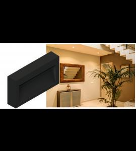 Balizador sobrepor LED 3W 3000K preto