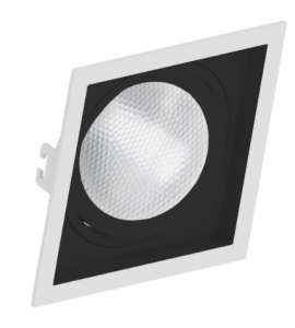 Embutido PAR30 quadrado foco orbital preto