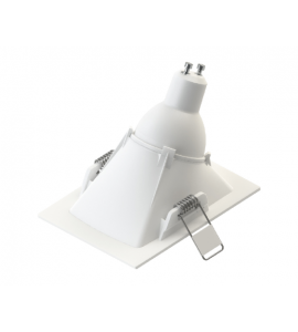 Embutido MR16 angular recuado branco