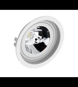 Embutido AR111 redondo recuado branco