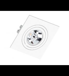 Embutido AR70 quadrado plano branco