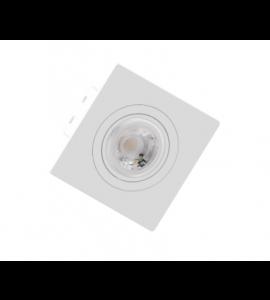 Embutido Mini Dicróica MR11 quadrado branco
