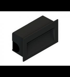 Balizador embutir LED 3W 3000K preto
