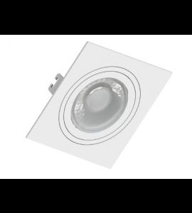 Embutido Dicróica MR16 quadrado branco