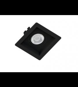 Embutido Dicróica MR11/16 quadrado recuado preto