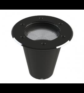 Embutido de solo LED 12W 2700K IP67 redondo aço inox
