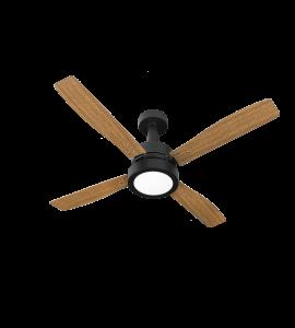 Ventilador de teto Vintage LED 4 pás PT